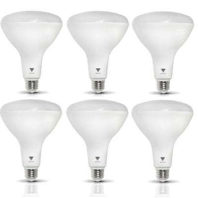 85-Watt Equivalent BR40 Dimmable 1,200-Lumen LED Light Bulb Soft White (6-Pack)