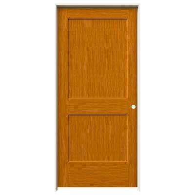 36 in. x 80 in. Monroe Saffron Stain Left-Hand Solid Core Molded Composite MDF Single Prehung Interior Door