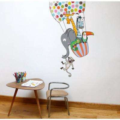 """(30.8 in x 49 in) Multi-Color """"A Balloon Ride"""" Kids Wall Decal"""