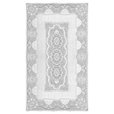Canterbury Classic Rectangle White Cotton Tablecloth