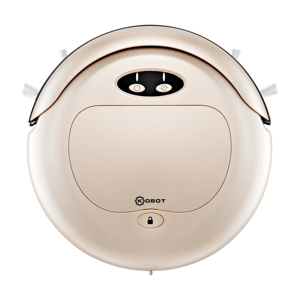 Slim Series Robot Vacuum in Champagne with Scheduling