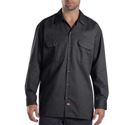 Men's 2X-Large Dark Navy Long Sleeve Work Shirt