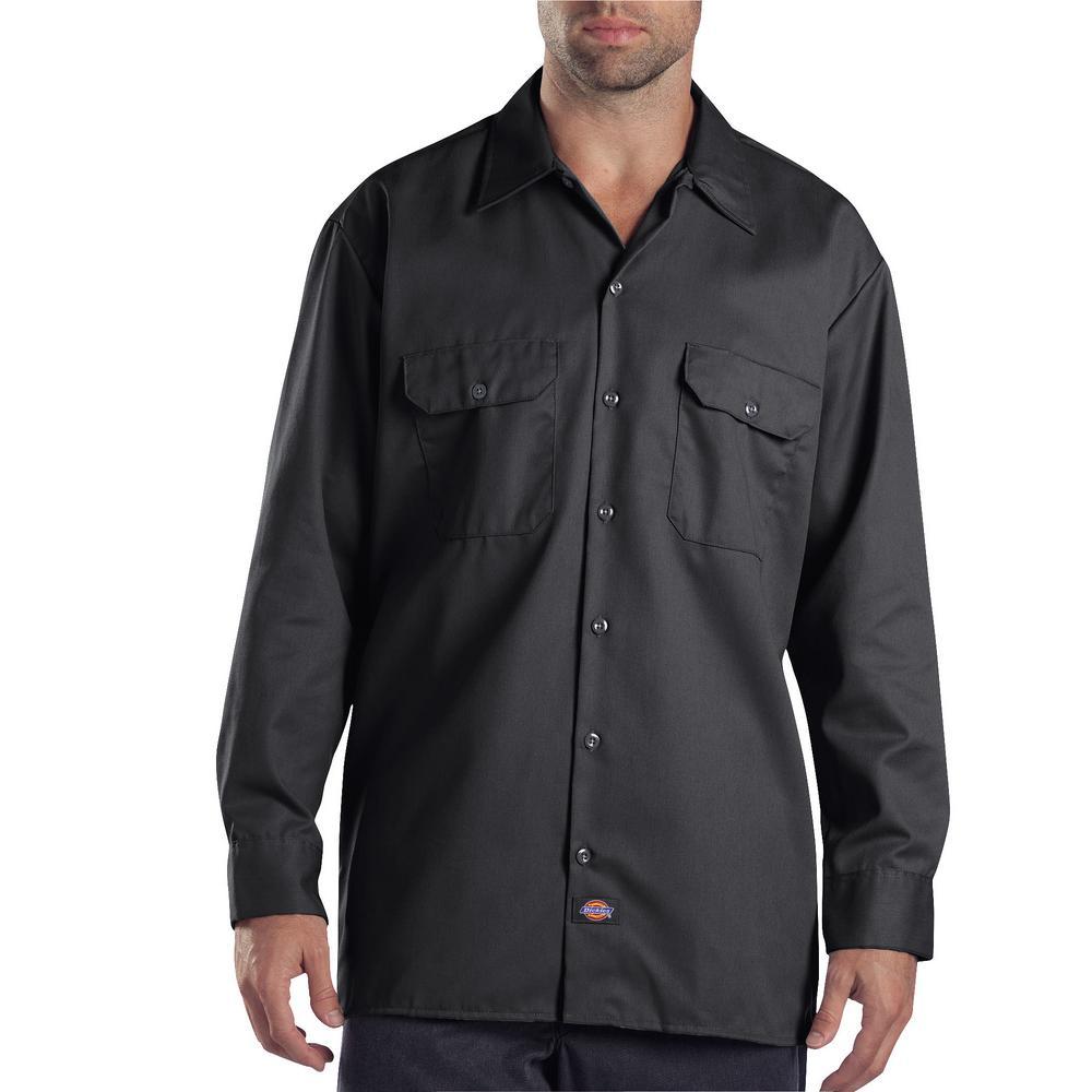 5a2a2b78a6 Dickies Men s Medium Charcoal Long Sleeve Work Shirt-574CH 3T - The ...