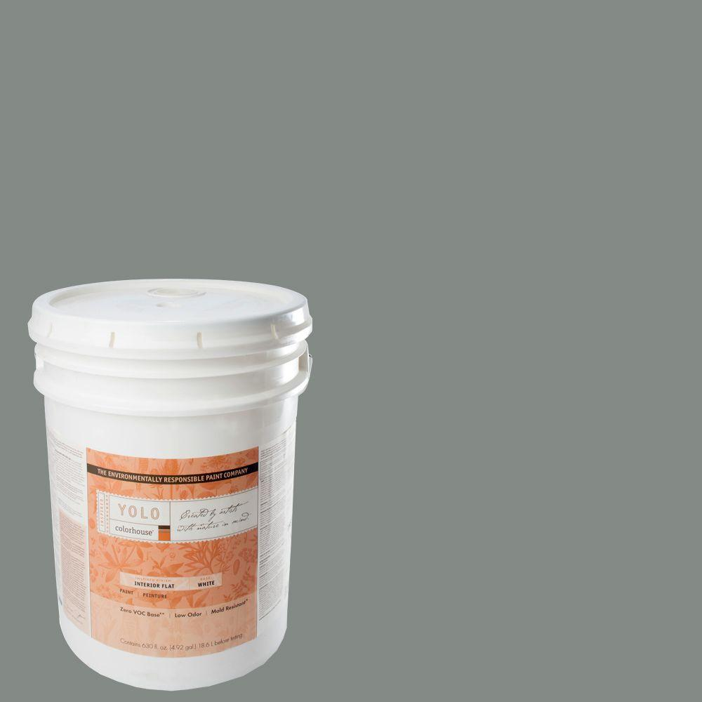 YOLO Colorhouse 5-gal. Stone .07 Flat Interior Paint-DISCONTINUED