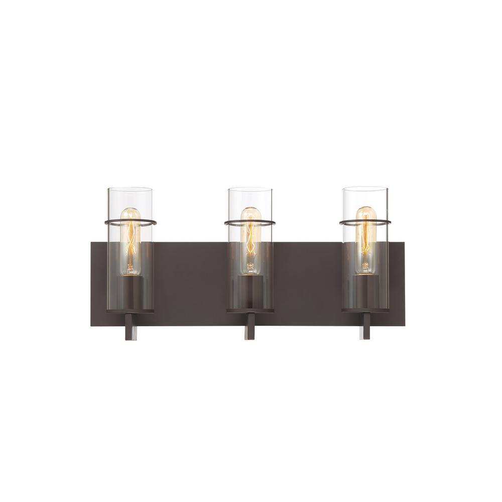 Eurofase Pista 3-Light Bronze Bath Light