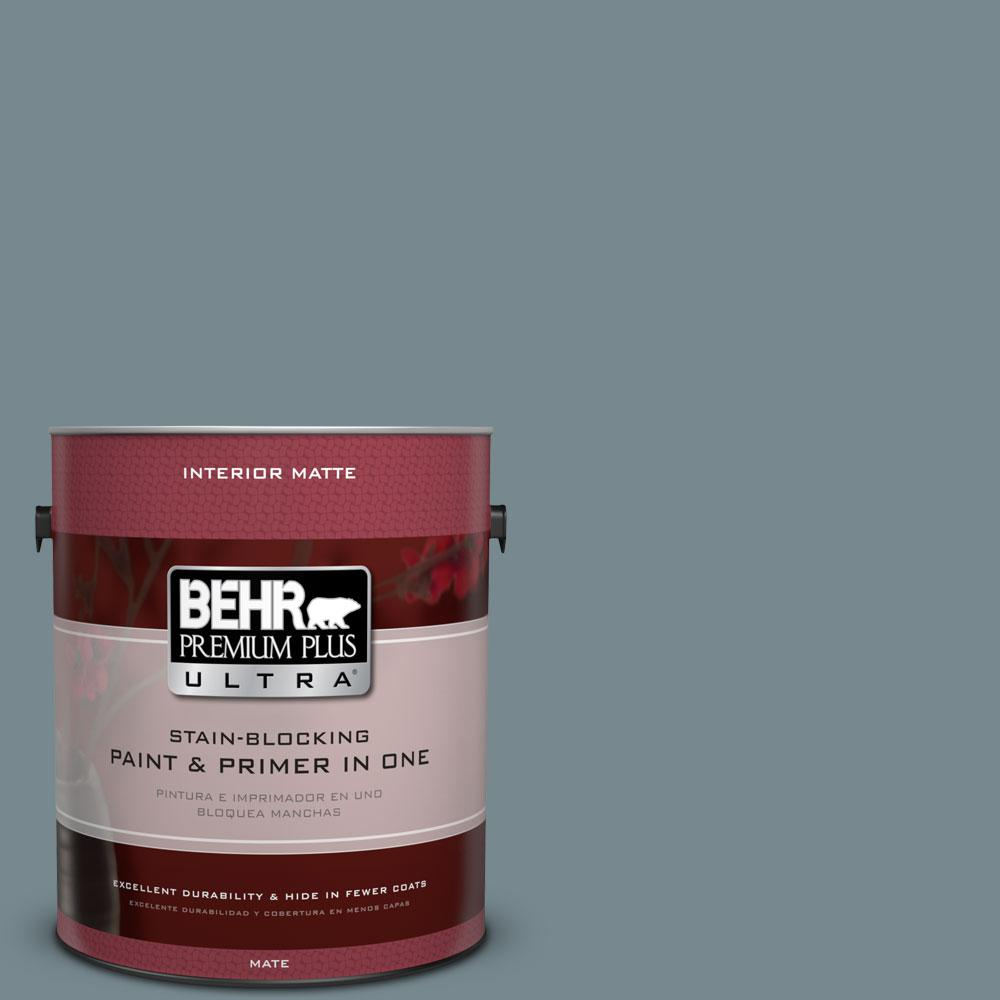 1 gal. #N470-5 Norwegian Blue Matte Interior Paint