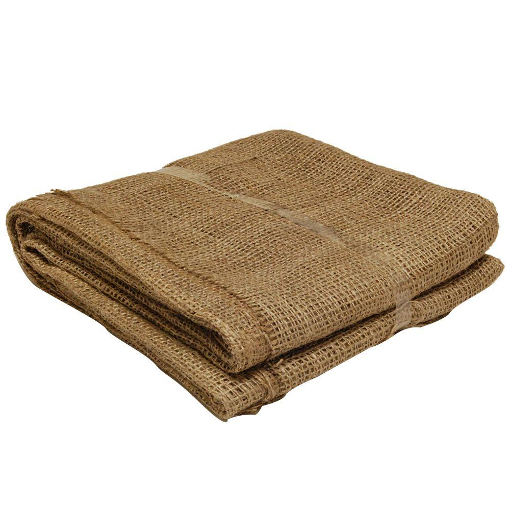 Easy Gardener 80 in. x 80 in. 100% Natural Burlap Landscape Fabric