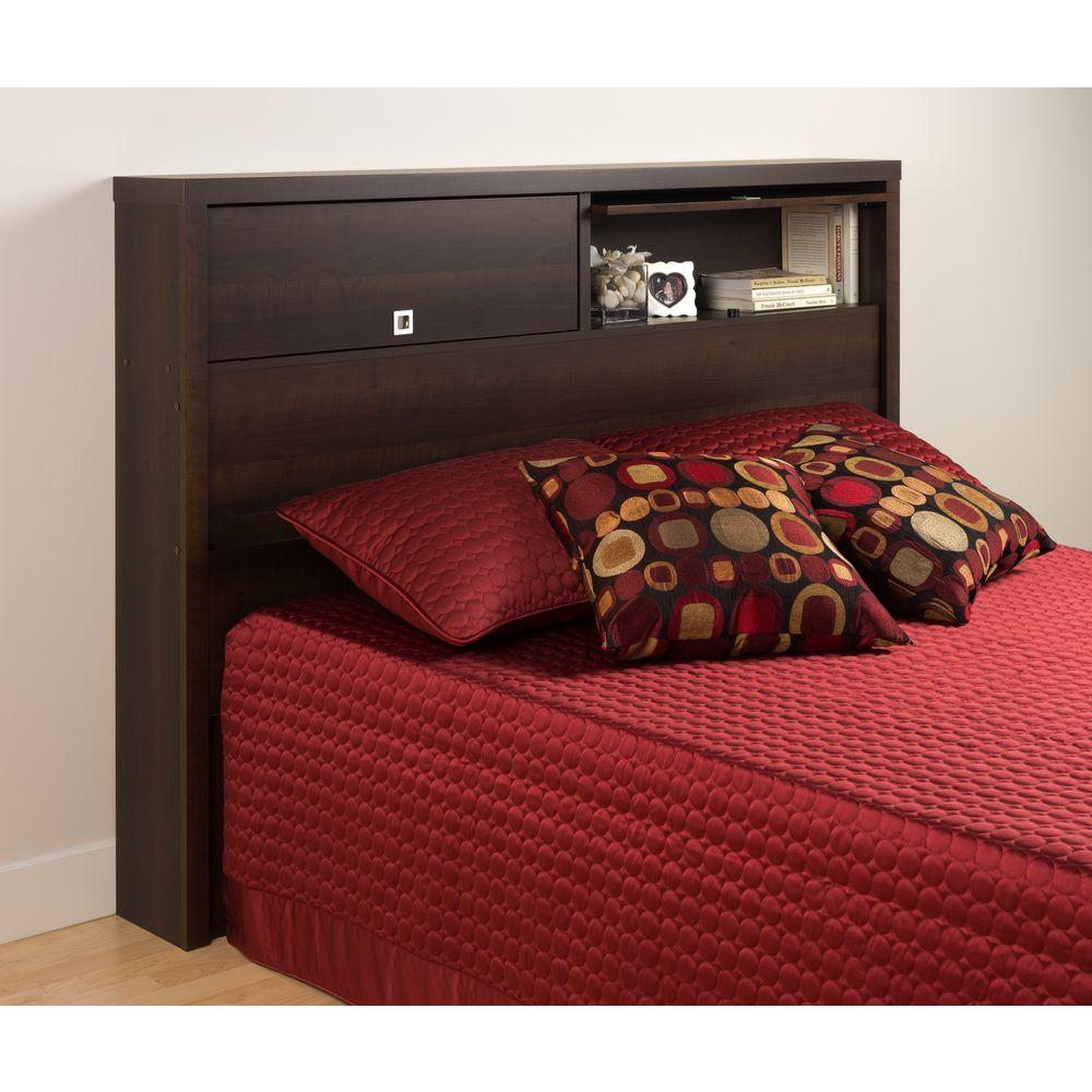 Superbe Prepac Series 9 Espresso Full/Queen Headboard