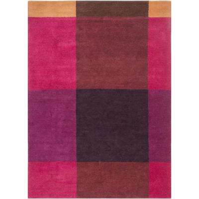 Mika Burgundy 5 ft. x 7 ft. 6 in. Area Rug