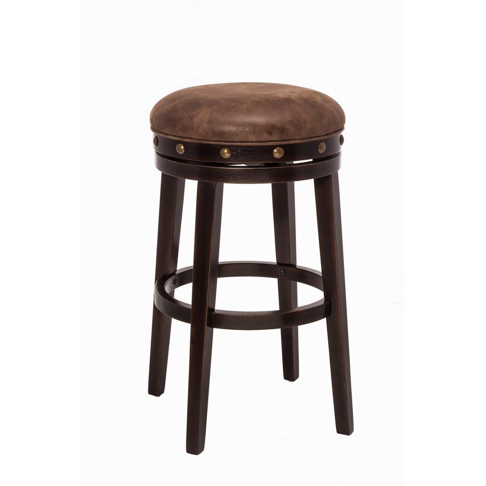 Hillsdale Furniture Benard 30.38 in. Deep Smoke Brown Backless Bar Stool