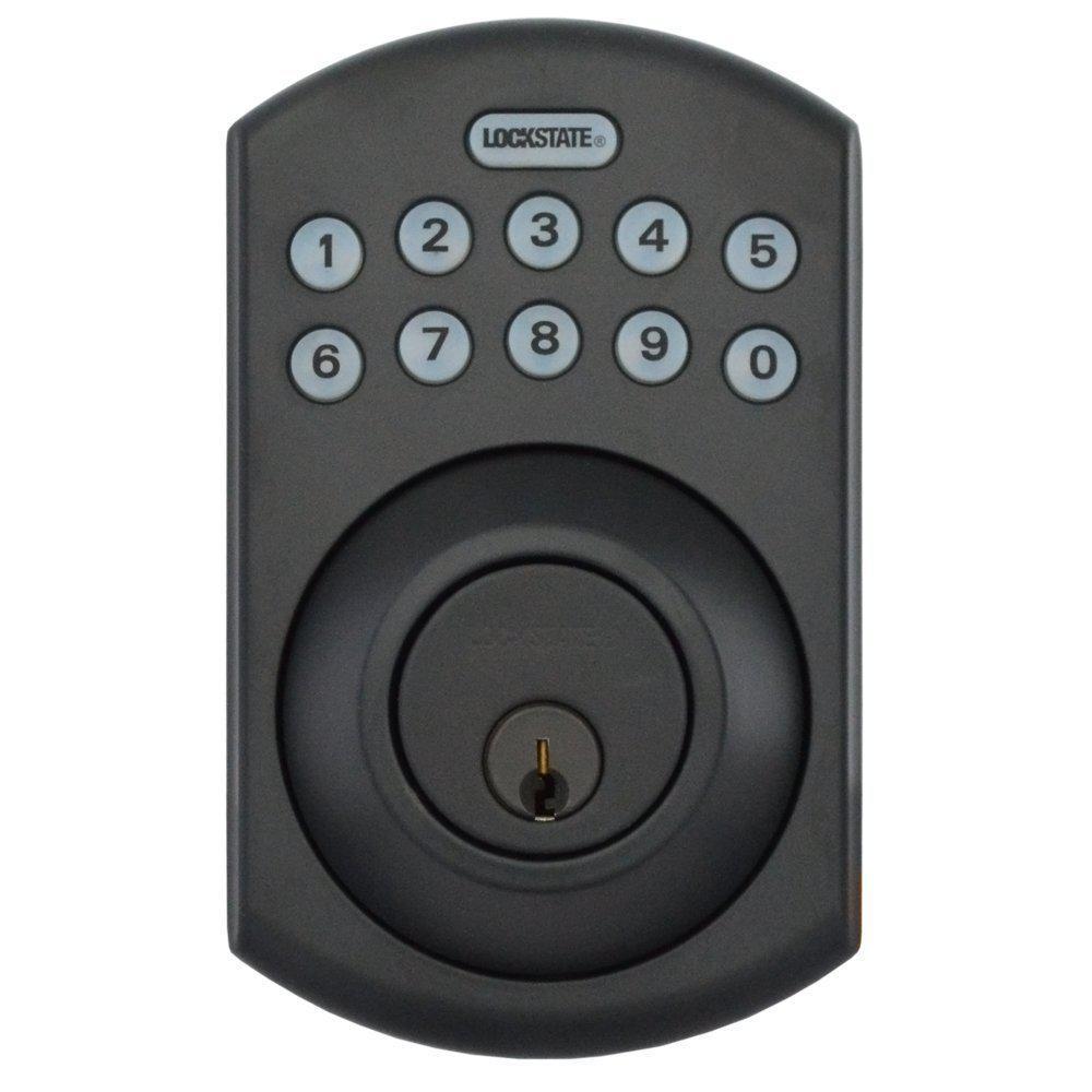 RemoteLock 5i WiFi Rubbed Bronze Electronic Deadbolt Door Lock - Boulder