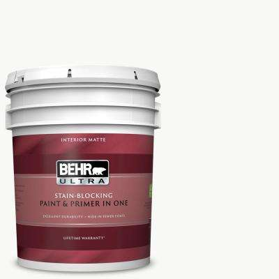 5 gal. Ultra Pure White Flat Matte Interior Paint and Primer in One