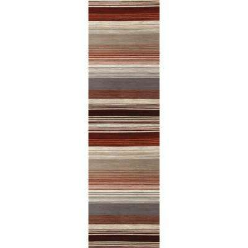 Bastille Heathered Stripe Red 2 ft. x 8 ft. Runner Rug
