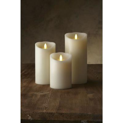 Classic Pillar 3 in. W x 4 in. H White No Scent