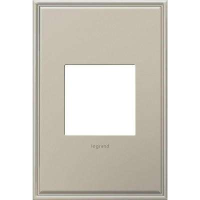 4-Gang 2 Module Wall Plate, Beaded Border, Antique Nickel