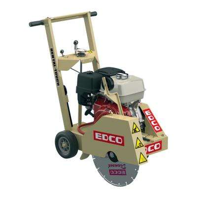 18 in. Blade Walk Behind Concrete Saw Downcut with Honda GX390 Gas Engine