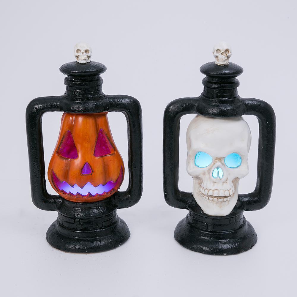 18.88 in. H Assorted Halloween Electric Smoking Lanterns (Set of 2 )