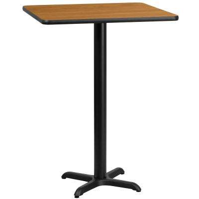 24 in. Square Natural Laminate Table Top with 22 in. x 22 in. Bar Height Table Base