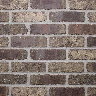 Brickwebb Single Flats Cafe Mocha 7.625 in. x 2.25 in. x 13mm Clay Single Thin Bricks Tile (7.3 sq. ft. / case)