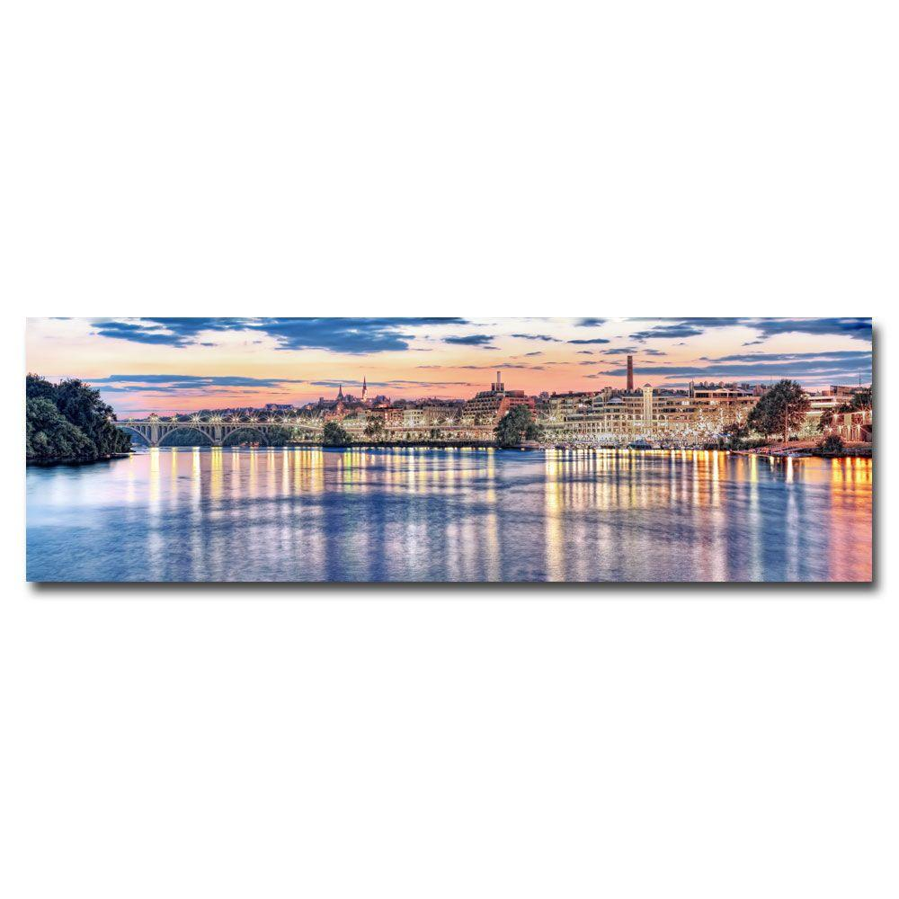 14 in. x 47 in. Georgetown Waterfront Canvas Art