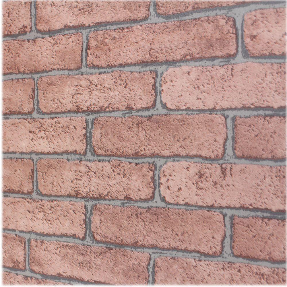Brown Bricks Self-Adhesive Wallpaper Sample