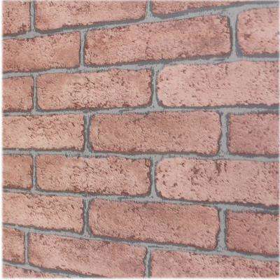 Brown Bricks Self-Adhesive Wallpaper Sample