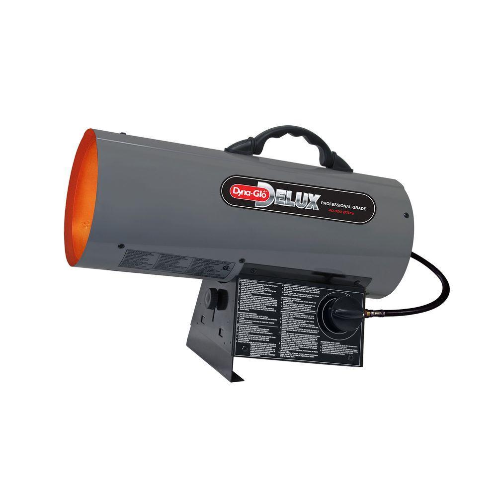 40K BTU Forced Air Propane Portable Heater, Orange