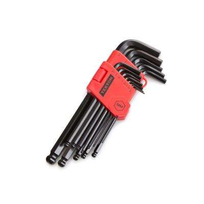 1.27-10 mm Long Arm Ball End Hex Key Wrench Set (13-Piece)
