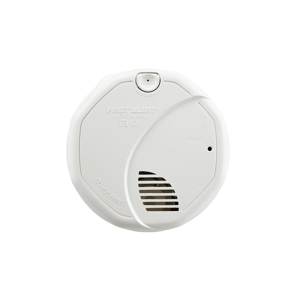 brk 120 volt hardwire smoke alarm with battery backup dual. Black Bedroom Furniture Sets. Home Design Ideas