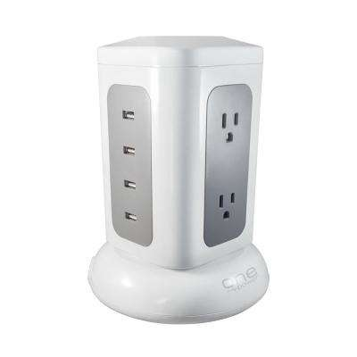 6-Outlet Quad USB Power Tower Surge Protector