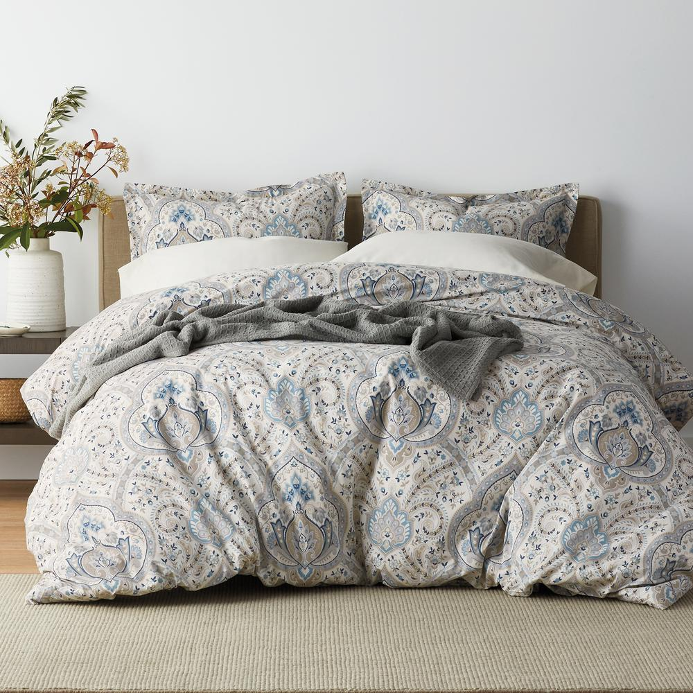 Inverness 3-Piece 200 Thread Count Cotton Percale Full Duvet Cover Set