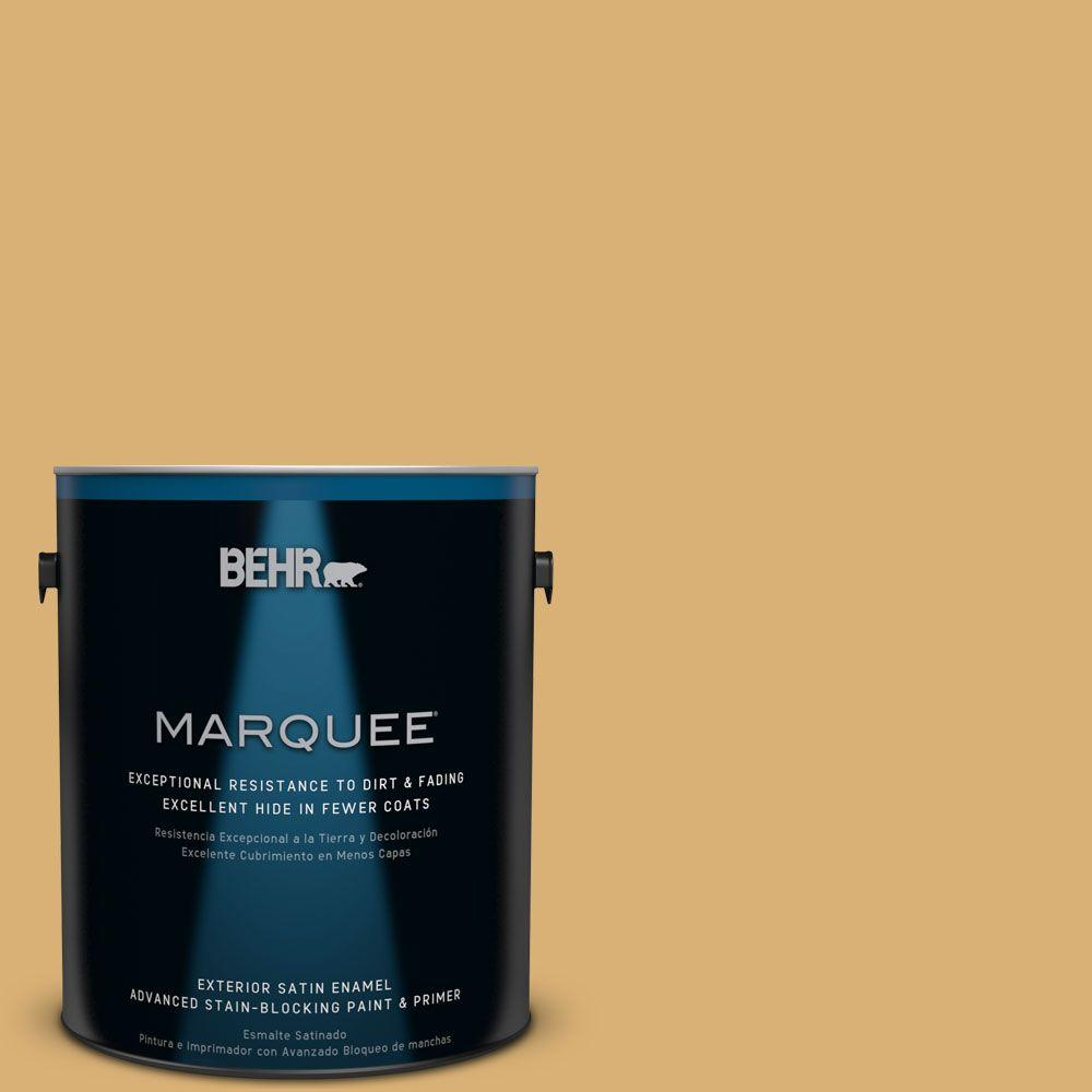 BEHR MARQUEE Home Decorators Collection 1-gal. #HDC-AC-08 Mustard Field Satin Enamel Exterior Paint