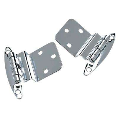 2-3/4 in. x 2-1/8 in. Inset Hinge in Chrome Plated Brass