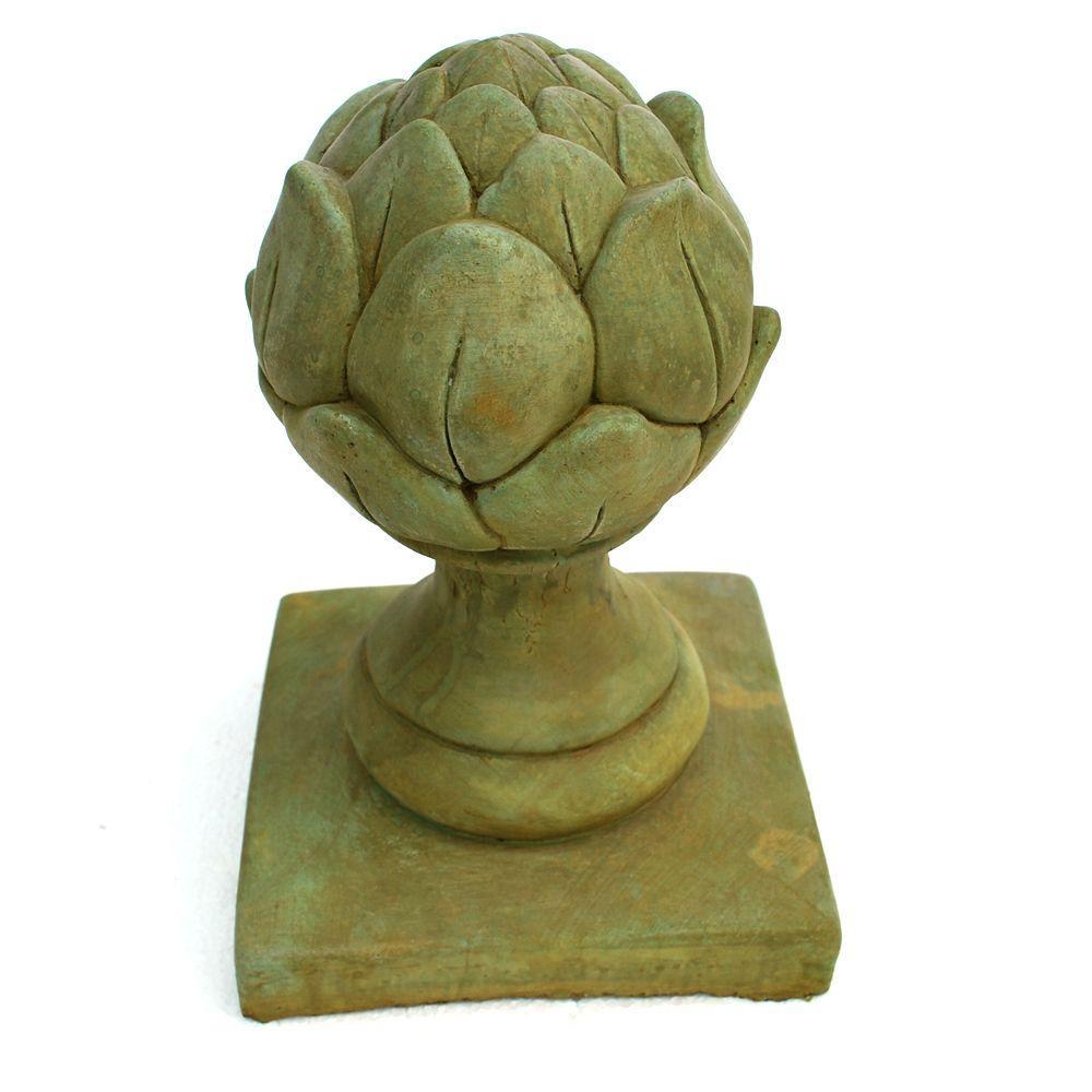 Cast Stone Artichoke Finial Weathered Bronze