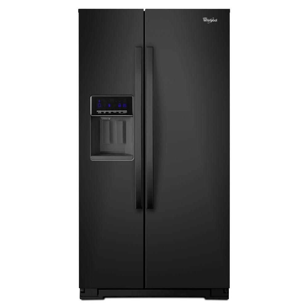 20.6 cu. ft. Side by Side Refrigerator in Black, Counter Depth