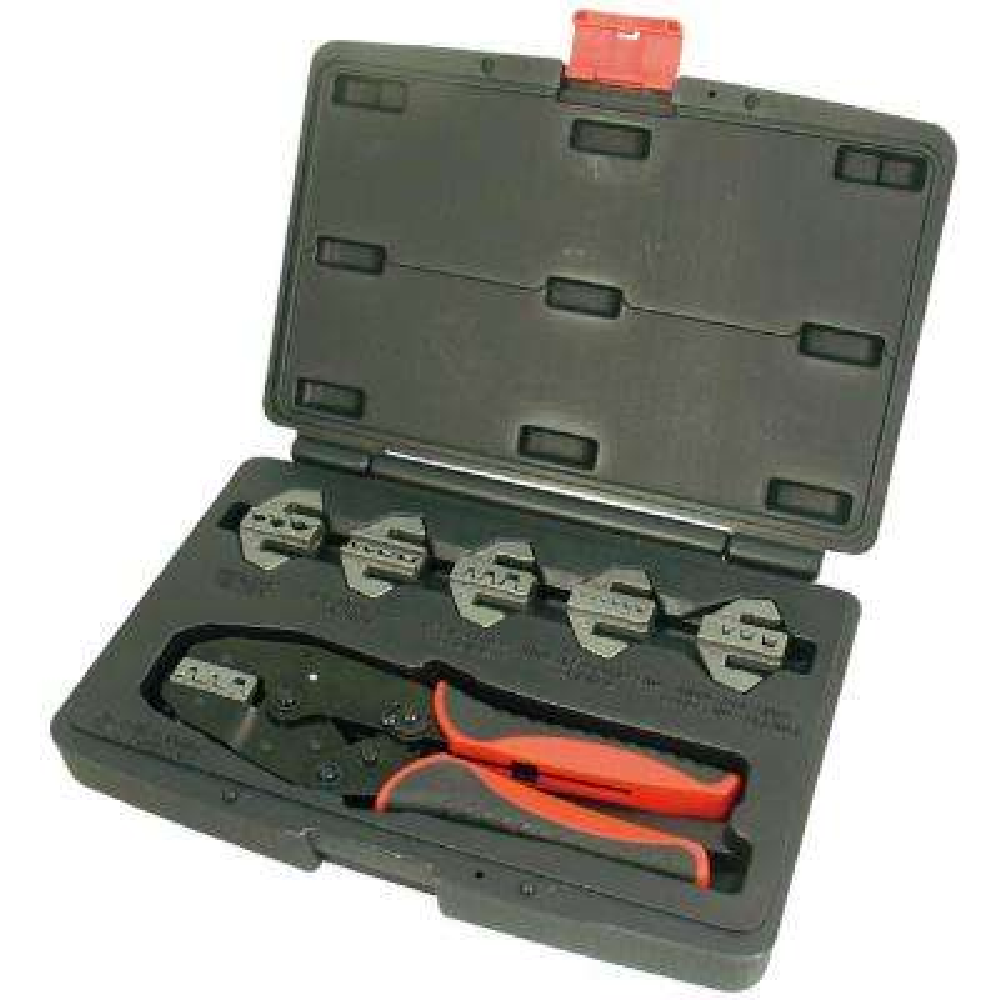 Interchangeable Quick Ratchet Crimping Tool Set