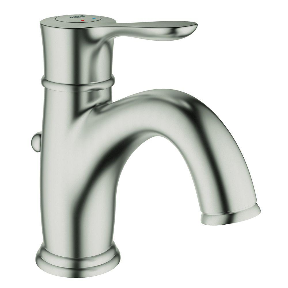 Grohe parkfield single hole single handle bathroom faucet - Single hole bathroom faucets brushed nickel ...