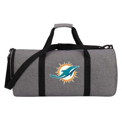 Dolphins Wingman 10 in. Heathered Gray Duffle Bag