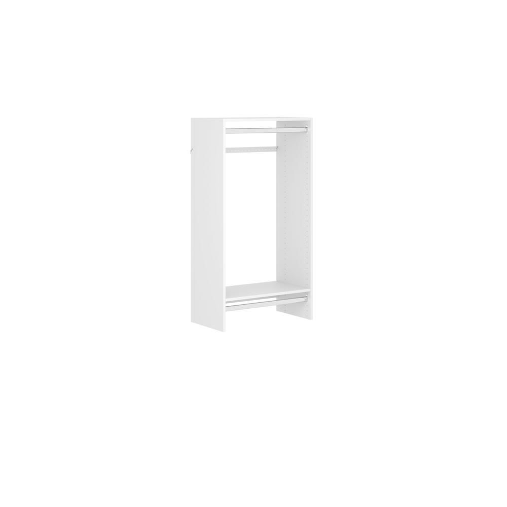 Closet Evolution Double Hang 25 in. W White Wood Closet Tower