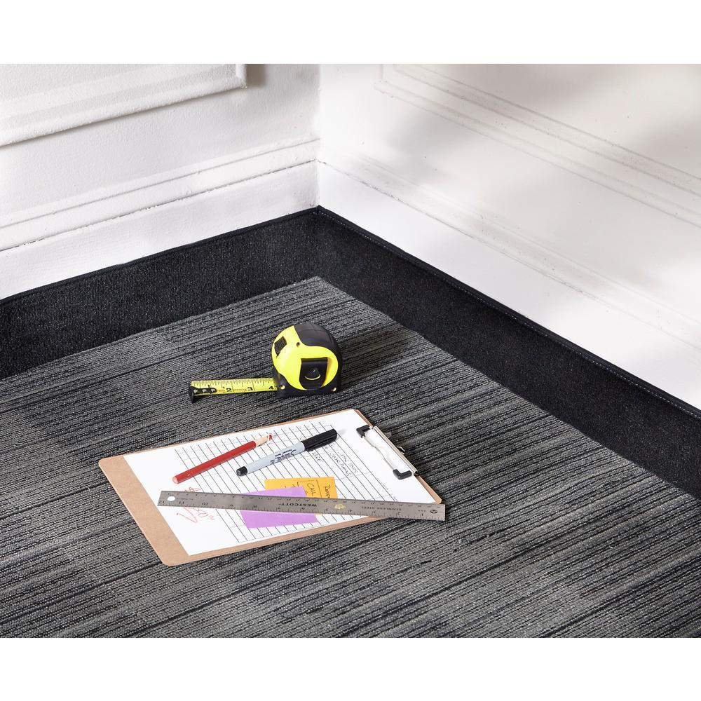 Black 4 in. x 48 ft. Carpet Cove Base Roll