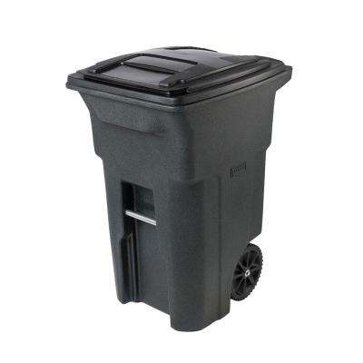 64 Gal. Greenstone Trash Can with Wheels and Attached Lid