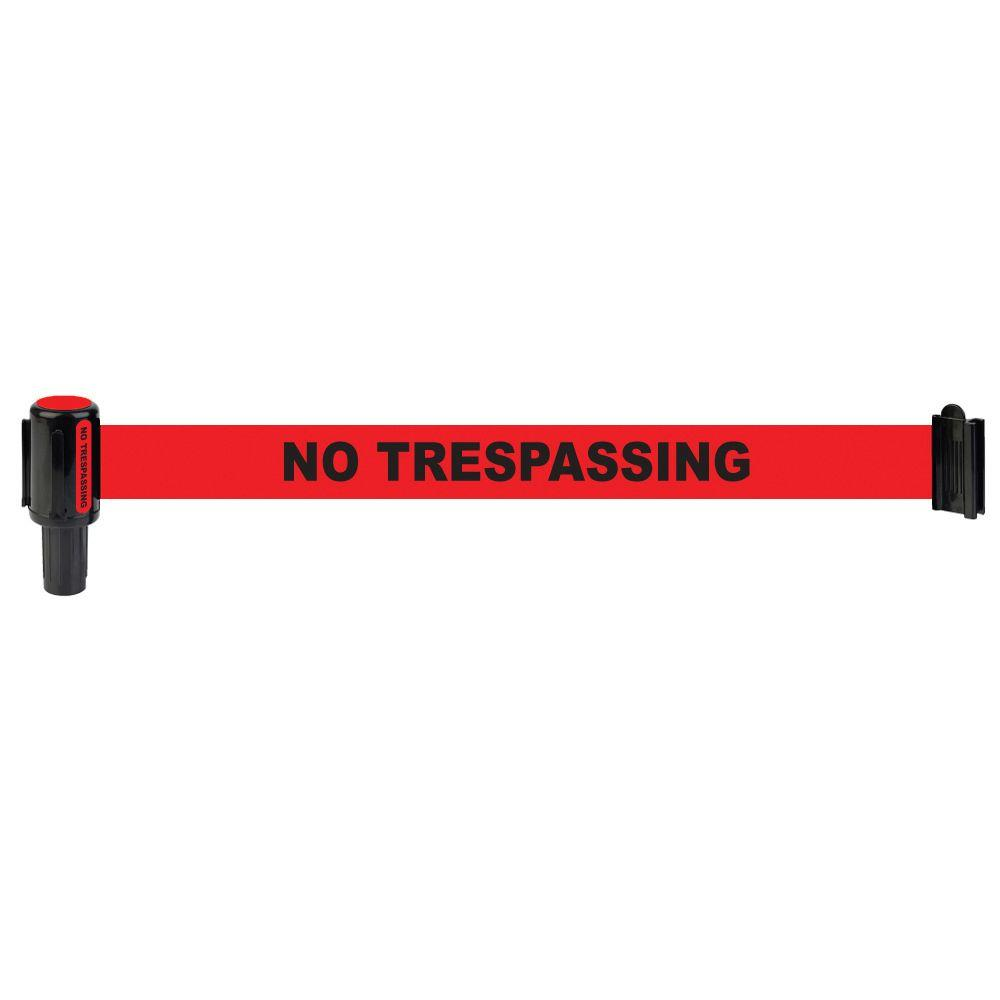 Banner Stakes Red Polyester Fabric No Trespassing Banner (Pack of 5)