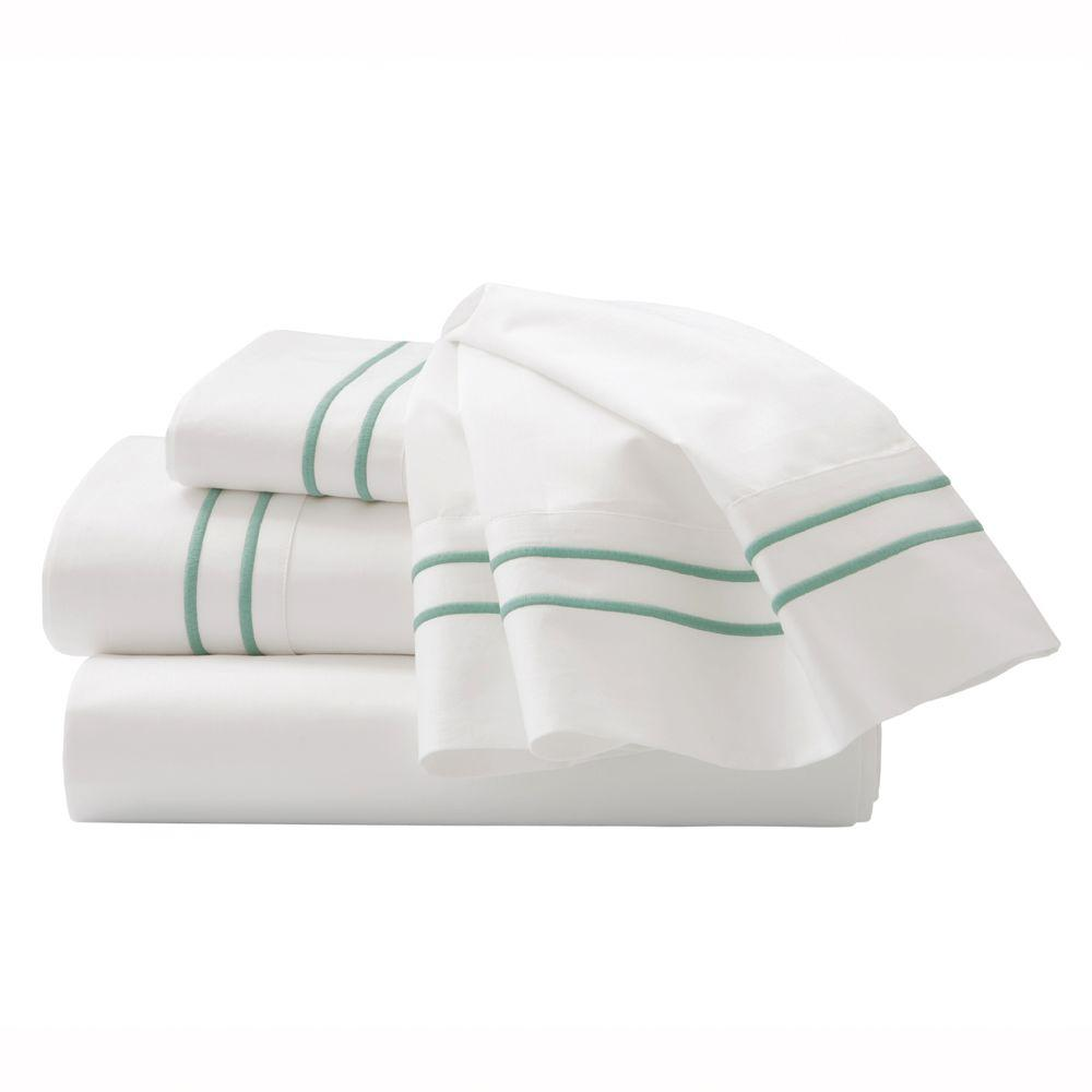 Home Decorators Collection Embroidered Watery King Sheet Set