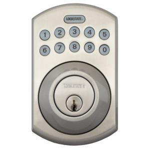 remotelock satin nickel electronic keypad deadbolt boulder style