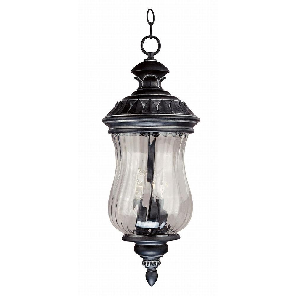 Kenroy Home Troubadour 24 in. Hanging Ebony Pearl Lantern-DISCONTINUED