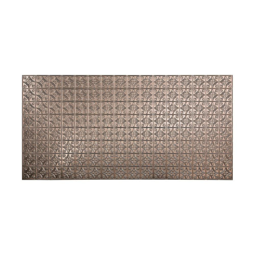 Fasade 96 in. x 48 in. Traditional 1 Decorative Wall Panel in Brushed Nickel