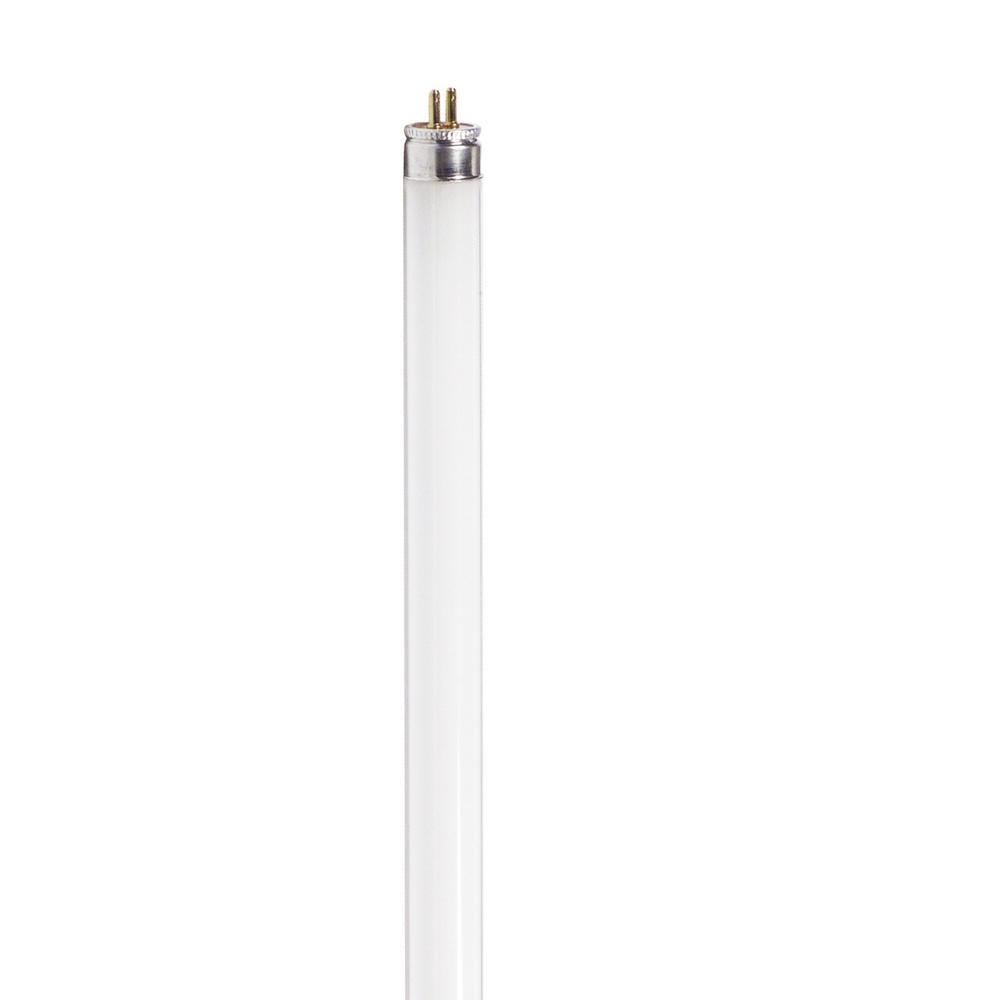 Philips 8-Watt 12 in. Linear T5 Fluorescent Tube Light Bulb Bright White (3000K)