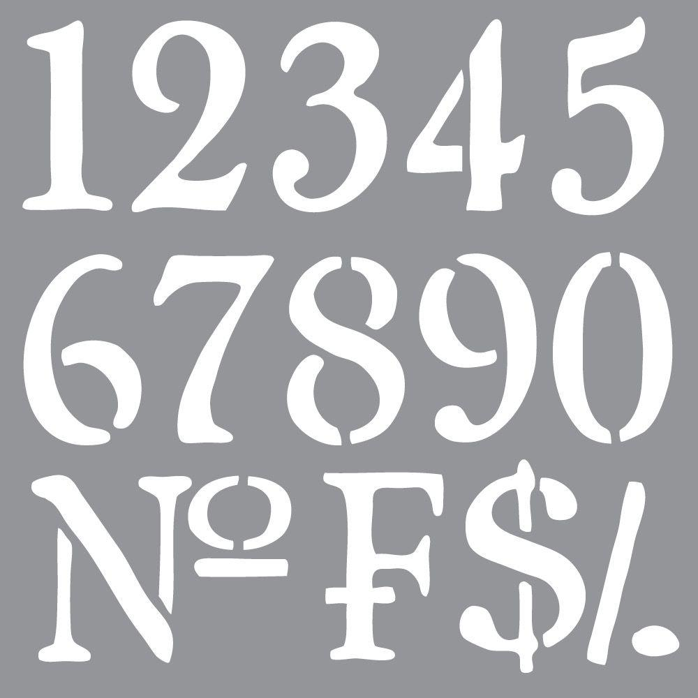 Americana Decor Olde World Numbers Stencil