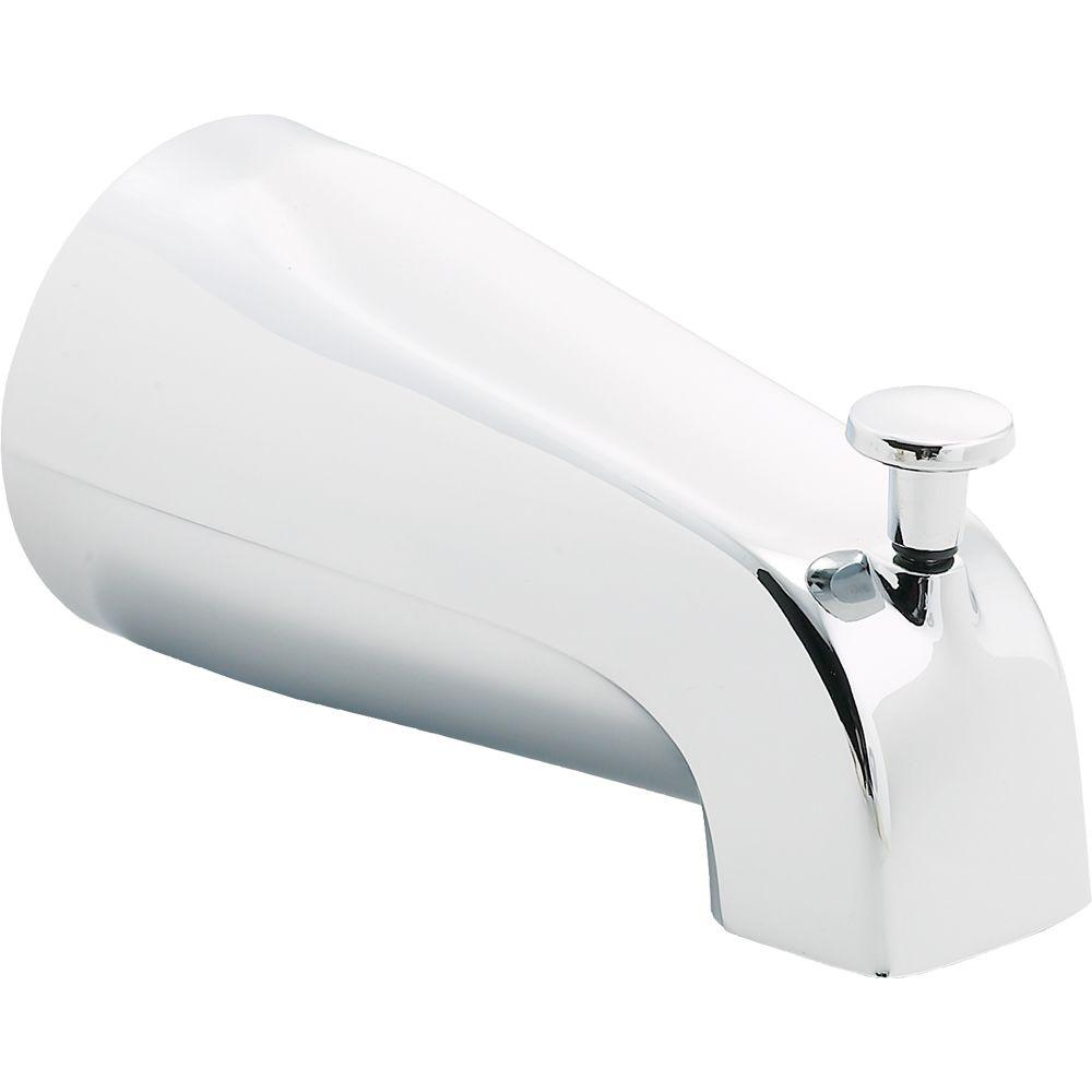 delta 5 56 in long pull up diverter tub spout in chrome u1075 pk