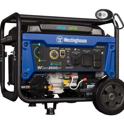 4,650/3,600-Watt Dual Fuel Gasoline or Propane Powered RV-Ready Portable Generator with Remote Start